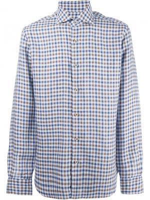 Рубашка в клетку Dandy Life Barba. Цвет: синий