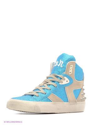 Кеды ASH. Цвет: голубой, белый