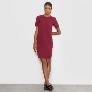 Платье с короткими рукавами R essentiel. Цвет: темно-синий,фиолетовый