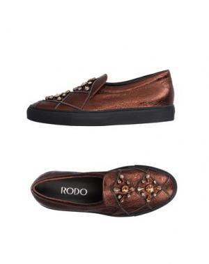 Низкие кеды и кроссовки RODO. Цвет: бронзовый
