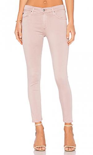Укороченные облегающие джинсы farrah AG Adriano Goldschmied. Цвет: none