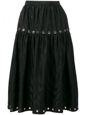 Декорированная юбка Kenzo. Цвет: чёрный