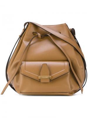 Большая сумка-тоут Abbey Visone. Цвет: коричневый