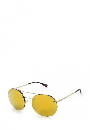 Очки солнцезащитные Prada Linea Rossa. Цвет: золотой