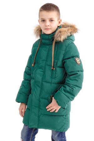 Куртка пуховая Arctic Goose. Цвет: зеленый