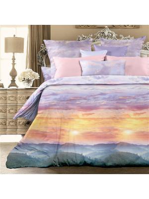 Комплект постельно белья 1,5 биоматин  Вечерние зори Унисон. Цвет: сиреневый