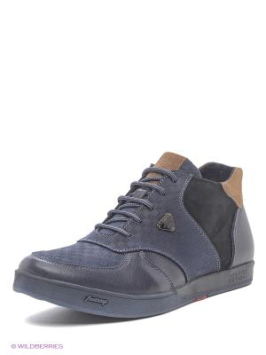 Ботинки Dino Ricci. Цвет: бежевый, синий
