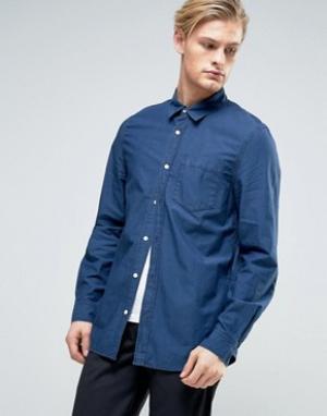 Weekday Синяя джинсовая рубашка Class. Цвет: синий