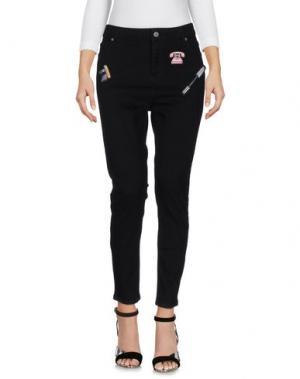 Джинсовые брюки 10X10 ANITALIANTHEORY. Цвет: черный