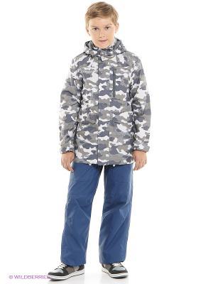 Куртка Crockid. Цвет: серый, светло-серый, белый