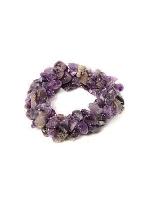 Браслет из натурального камня Indira. Цвет: сиреневый