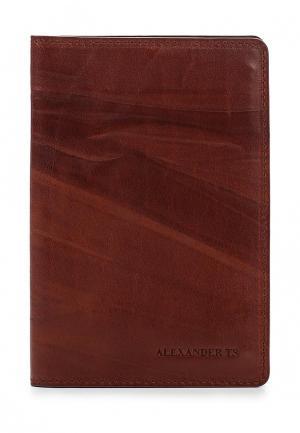 Обложка для документов Alexander Tsiselsky. Цвет: коричневый