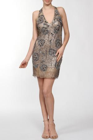 Платье Basix Black Label. Цвет: бежевый