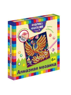 Алмазная мозаика Жар-птица, размер 15х15 см Фабрика Фантазий. Цвет: темно-синий, белый, желтый, оранжевый, светло-коричневый