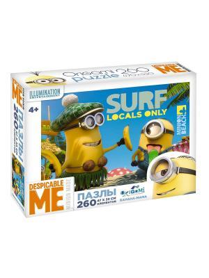 Minions. Пазл 260 элементов Банана-мама в чемоданчике. Minions. Цвет: желтый, голубой, зеленый