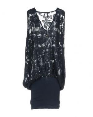 Платье до колена HIGH. Цвет: темно-синий