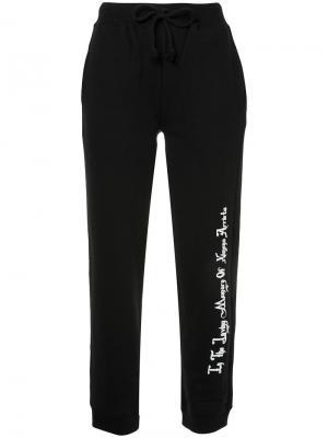 Спортивные брюки с принтом G.V.G.V.Flat. Цвет: чёрный