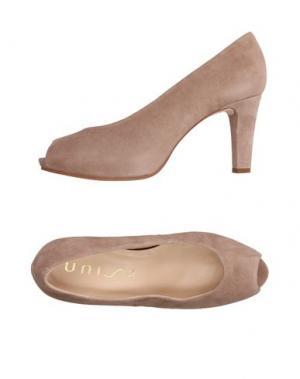 Туфли UNISA. Цвет: голубиный серый