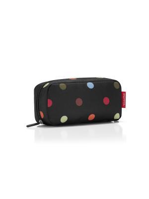 Косметичка Multicase dots Reisenthel. Цвет: черный, голубой, красный