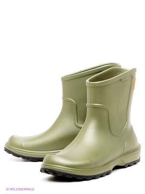 Сапоги Wellie Rain Boot CROCS. Цвет: темно-зеленый