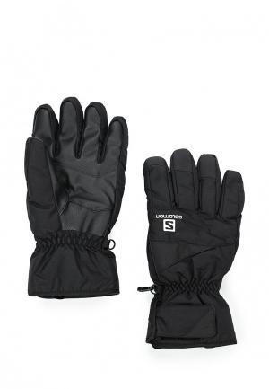Перчатки горнолыжные Salomon. Цвет: черный