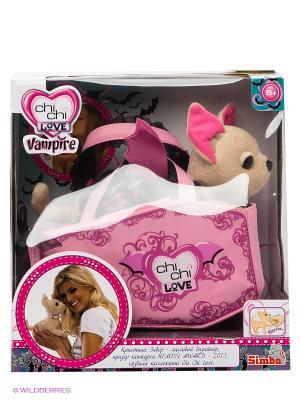 Плюшевая собачка Вампирчик в сумочке Chi Love. Цвет: розовый, бежевый