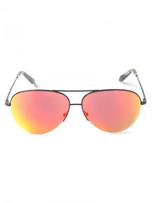 Солнцезащитные очки авиаторы Victoria Beckham. Цвет: чёрный