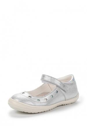 Туфли Coccodrillo. Цвет: серебряный