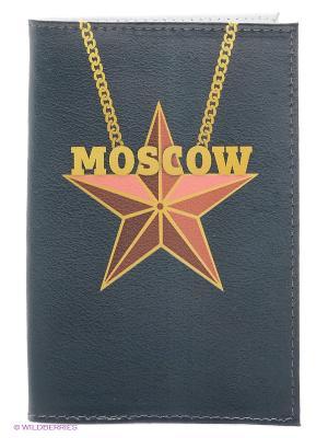 Обложка для паспорта Mitya Veselkov. Цвет: морская волна