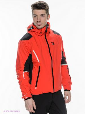Куртка Salewa. Цвет: красный, черный
