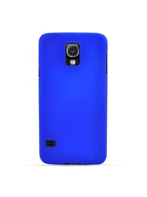 Чехол для Samsung Galaxy S5, прорезиненный Soft-Touch пластик, голубой Belsis. Цвет: голубой