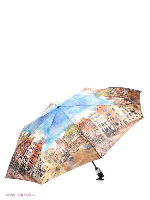 Зонт RAINDROPS. Цвет: синий, коричневый