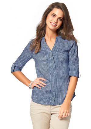 Блузка BOYSENS BOYSEN'S. Цвет: синий/белый