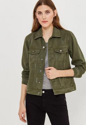 Куртка джинсовая Fascinate. Цвет: хаки