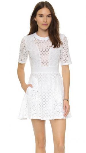 Кружевное платье Leila Ryder. Цвет: белый