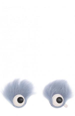 Аппликация Eyes с отделкой из овчины Anya Hindmarch. Цвет: разноцветный