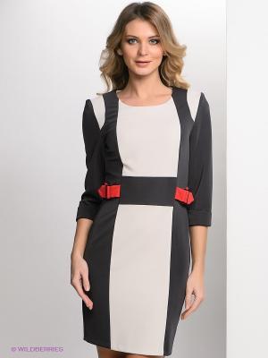 Платье Bize. Цвет: темно-синий, красный, кремовый