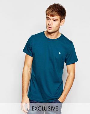 Jack Wills Зеленая футболка с логотипом-фазаном. Цвет: зеленый