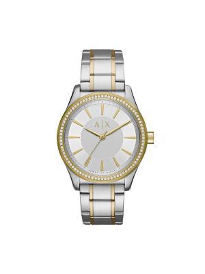 Часы Armani Exchange. Цвет: серебристый, желтый, золотистый