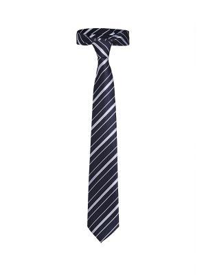 Классический галстук Незнакомец с Уолл Стрит в диагональную полоску Signature A.P.. Цвет: черный, белый, темно-синий