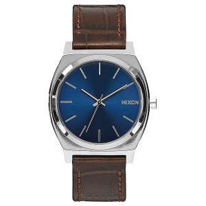 Кварцевые часы  Time Teller Brown Gator Nixon. Цвет: серый,коричневый,синий