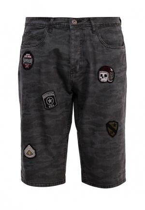 Шорты джинсовые MeZaGuz. Цвет: серый