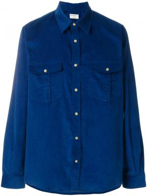 Рубашка Travelling Éditions M.R. Цвет: синий