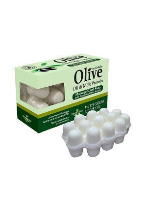 ГЕРБОЛИВ Массажное мыло с молочным протеином. Антицеллюлитное для пилинга. Вес: 100гр. Madis S.A.. Цвет: оливковый