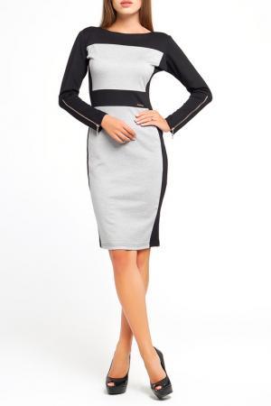 Платье Majaly. Цвет: черный, светло-серый