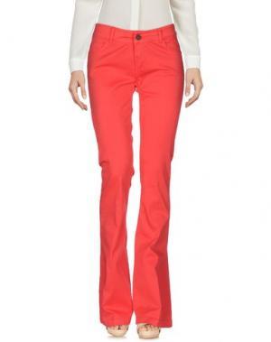 Повседневные брюки ANOTHER LABEL. Цвет: коралловый