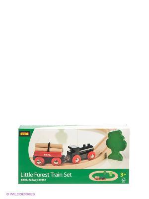 Железная дорога с грузовым поездом BRIO. Цвет: бежевый, зеленый, красный, черный