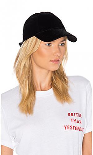 Бархатная бейсбольная кепка Hat Attack. Цвет: черный