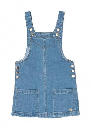 Платье джинсовое Acoola. Цвет: синий