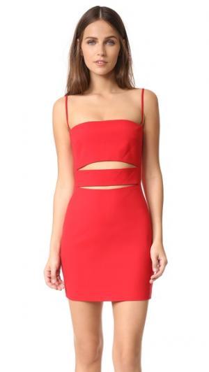 Платье-бандо с бретельками Michelle Mason. Цвет: красный